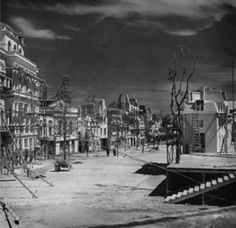 """Set photo: """"Le boulevard du crime"""" designed by Alexandre Trauner for 'Les enfants du paradis' (Children of Paradise), 1943-44 (released 1945), with Leon Barsaq and Raymond Gabutti (directed by Marcel Carné)"""
