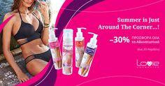 Με το καλοκαίρι μόλις μια ανάσα μακριά, αποκτήστε το τέλειο σώμα για την παραλία με μοναδική προσφορά -30% σε ΟΛΑ τα προϊόντα αδυνατίσματος LOVIE για Αδυνάτισμα - Σύσφιξη - Καταπολέμηση Κυτταρίτιδας! *Ισχύει σε όλα τα καταστήματα LOVIE. Oras, Slim, Summer, Fashion, Moda, Fasion, Trendy Fashion, La Mode, Summer Time