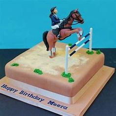 Image result for cake decorating ideas horse riding theme