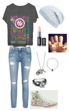 """""""(OPITS) fiancée disguised as hayniac"""" by hanna19134 on Polyvore featuring Current/Elliott, Collection XIIX and NYX"""