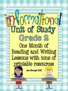 Informational Reading and Writing Unit: Grade 2...40 Lessons with CCSS!! Teach Common Core State Standards in informational nonfiction writing and reading with this month long unit of study. It includes 40 lessons all linked to CCSS, chart examples, and much more!