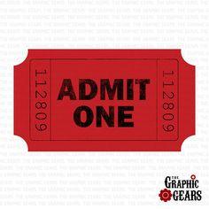 Movie Ticket Clip Art  Vector Clip Art Online Royalty Free