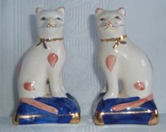 Pair of Staffordshire cats