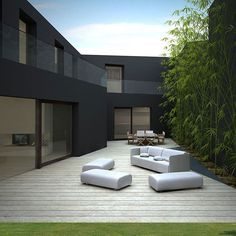 Outdoor Living, House in Sassuolo by Enrico Iascone Architetti