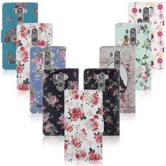Fashion Flower Pattern Leather Flip Wallet Case Cover For LG G3 D850 D855 LS990 #UnbrandedGeneric