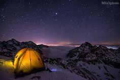 Tatranská hviezdna noc #praveslovenske od MILO AdventurePhotos ... Panovalo bezvetrie množstvo hviezd žiaľ mliečna dráha sa akosi neukázala...inak to bolo dokonalé! :)