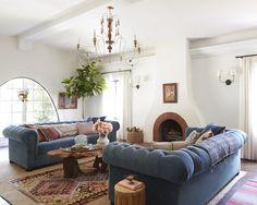 Rustic Spanish California Home – The Living Room