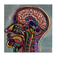 50% Off - Anatomy Art Tile Ceramic Coaster Medical Science Brain Print on Tile Ears Nose throat Vintage Chart Illustration Biology