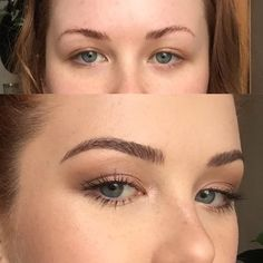 This Woman Fills Her Eyebrows in With One Product - Bikinipiglet's one-product brow routine using the Make Up For Ever Aqua Brow and a MAC 266 angled brush is going viral for its natural, hair-like Thin Eyebrows, Natural Eyebrows, Natural Hair, Shape Eyebrows, Natural Makeup, Permanent Eyebrows, Bold Brows, Eyebrow Tinting, Eyebrow Makeup