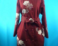Kimono coat Japanese traditional patterns by PriscillaTokyo