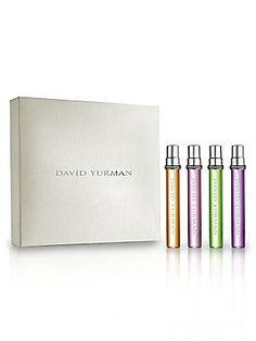 David Yurman Fragrance Essence Collection Quartet Gift Set Limited Edition (Four 0.25 OZ Mini Spray Travel Size Set)