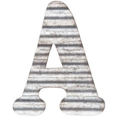 Corrugated Metal Letter Wall Decor - A Metal Wall Letters, Letter Wall Decor, Nursery Letters, Painted Letters, Window Signs, Wall Signs, Metal Art Projects, Metal Crafts, Wall Decor Online