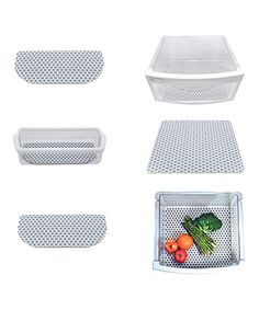 Look what I found on #zulily! Gray Polka Dot Six-Piece Fridge Liner Set #zulilyfinds