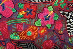 Mola quilt detail 2 -- love the detail!  Would love to try Mola work
