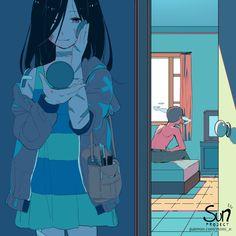 Anime: *Starts raining* Anime character: – popular memes on the site iFunny. Anime Crying, Sad Anime, Manga Anime, Anime Art, Anime Triste, Dark Art Illustrations, Illustration Art, Aesthetic Art, Aesthetic Anime
