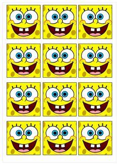 Minion Birthday Invitations, Spongebob Birthday Party, Birthday Party Tables, Diy Birthday, Sponge Bob Cupcakes, Sponge Bob Party, Spongebob Squarepants Drawing, Spongebob Crafts, Baby Looney Tunes