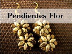 ▶ DIY Abalorios - Pendientes Flor (rulla y Superduo ) - YouTube