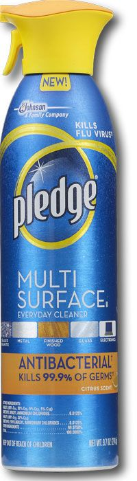 Pleadge Multis Surface Antibacterial..awesome..uses on wood glass electronics..keyboards (germs!)