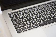 Macbook Keyboard Decal Macbook Pro Keyboard Skin by FindFun