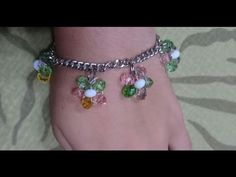 How to Make a Beaded Flower Charm Bracelet - DIY - Tutorial .