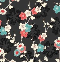 Blossom Black Ground