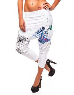 Damen Haremshose Aladin Pumphose Jeans Sommer Baggy Pluder Pants Yoga BF 0016