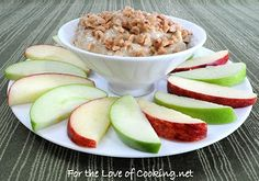 For the Love of Cooking » Toffee Crunch Dip with Apple Slices