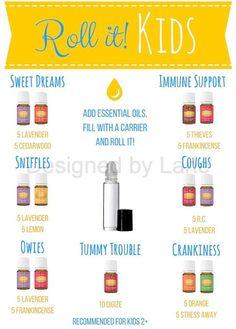 DIGITAL DOWNLOAD | Essential Oil Kids Roller Blend Recipe Card - Young Living - Premium Starter Kit - Oil Guide - Distributor - Pdf file