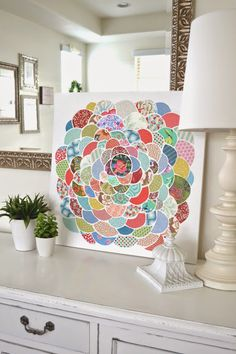 Tea Rose Home: Anthro inspired ~ Canvas Flower Wall Art