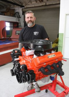 The DEL starts with fresh-out-of-the-box Chevy engine and continues with carefully chosen components to give it the looks of traditional small-block. Chevy 350 Engine, Truck Engine, Truck Flatbeds, Shop Truck, Chevy Crate Engines, Ls Engine Swap, Engine Stand, Chevy Motors, Crate Motors