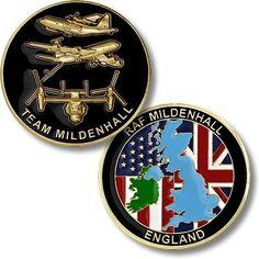 U.S. Air Force / RAF Team Mildenhall, England - USAF Challenge Coin   Collectibles, Militaria, Current Militaria (2001-Now)   eBay!