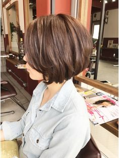 Cute Bob Hairstyles, Short Hairstyles For Thick Hair, Hairstyles With Bangs, Messy Short Hair, Asian Short Hair, Short Hair Cuts, Asian Bob Haircut, Melena Bob, Medium Hair Styles