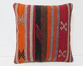 kilim pillow turkish fabric pillow modern home decor chair cushion cover kilim pouf pillow chair pillow cover wool decorative pillow 25829