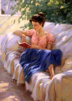 Nagornov, Vladislav - Woman Reading on Terrace