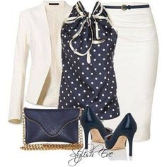Cream and polka dot
