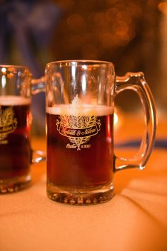 Perfect way to serve German beer at your German wedding!