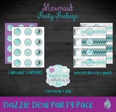 Mermaid Party Package Mermaid Birthday Party by RainyZebraDesigns