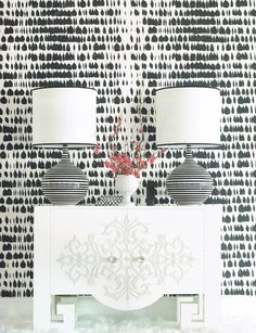 New black and white wallpaper from Schumacher