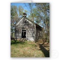 Old One Room Schoolhouse - my mother's first teaching job was in one of these.