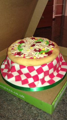 Pizza cake! I need to learn how to work with fondant :P