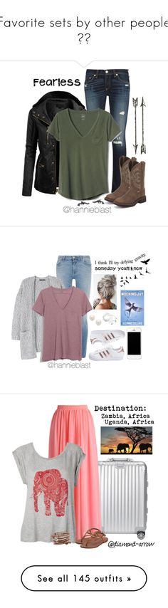 """""""Favorite sets by other people ✌🏼"""" by pistols-n-pearls ❤ liked on Polyvore featuring LE3NO, rag & bone, Gap, Givenchy, MANGO, Monday, adidas, Madewell, Kenneth Jay Lane and Freebird"""