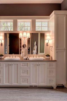 Beautiful bathroom storage cabinet ideas that will impress you New Bathroom Ideas, Bathroom Tile Designs, Bathroom Colors, Bathroom Interior Design, Bathroom Inspiration, Neutral Bathroom, Bathroom Updates, Bathroom Trends, Bathroom Layout