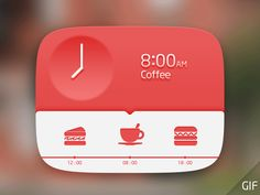 Dinner layout - watch the animation! - found on Dribbble.