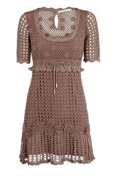 crochet dresses for women - Visicom Yahoo Image Search Results Crochet Skirts, Crochet Blouse, Crochet Clothes, Blouse Dress, Knit Dress, Dress Skirt, White Shirts Women, Blouses For Women, Crochet Woman