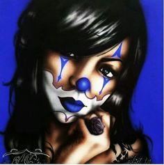 Chicano Art Tattoos, Chicano Drawings, Body Art Tattoos, Arte Cholo, Cholo Art, Evil Clown Tattoos, Aztecas Art, Azteca Tattoo, Chicano Love