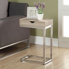Natural Reclaimed-look Chrome Metal Accent Table - Overstock™ Shopping - Great Deals on Coffee, Sofa & End Tables