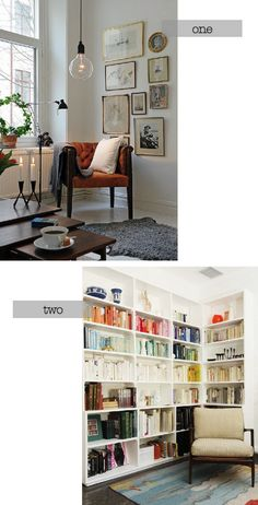 corner spaces via sacramento street. (1st image from that kind of woman, 2nd image from Jon & Tyke's Modern Cabin). #marriedlife #futurehome