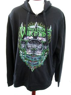 Bullet For My Valentine Hoodie Sweatshirt Black Hot Topic Men's 3XL XXXL NWT $53