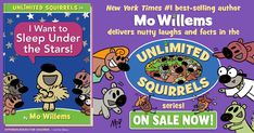 My kids grew up with the adventures of Pigeon and Elephant & Piggie. Now the next generation of beginning readers have new friends to meet. Best-selling author Mo Willems is back at it with the third book in his new series, Unlimited Squirrels. #ad Mom Website, Valley Stream, Mothers Of Boys, Greenwood Village, Mo Willems, Find A Book, Sleeping Under The Stars, Kids Growing Up, Fun Crafts For Kids