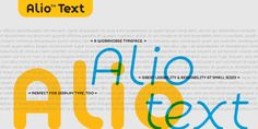 Alio Text™ font download